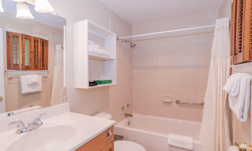 Lodge Double Courtyard - Room 201 Bathroom
