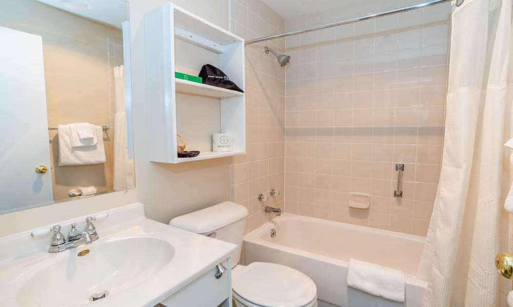 Lodge King Waterview - Room 207 Bathroom